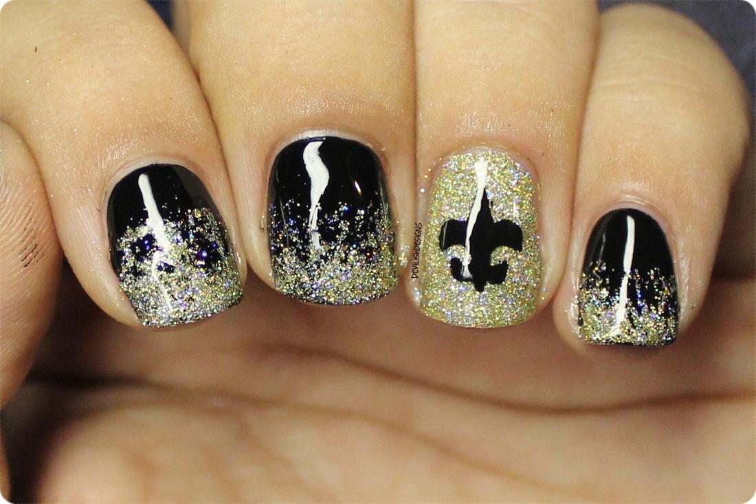 Football Nails - Just Kelly Rene